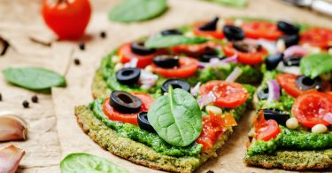 Gluten-free cheese pizza with a zucchini crust